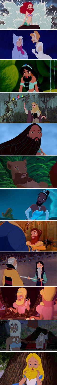 Disney princesses with beards. 'Nuff said. Hahahaha