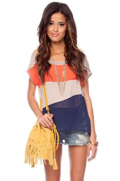 love the color combo! picture with white destructed shorts!