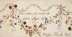 floral fabric, 17th century, text mine