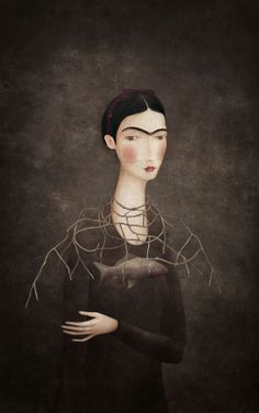 Illustration by Luis Gabriel Pacheco for Frida Kahlo, a possible History by Maria Baranda Diego Rivera, Art And Illustration, Illustrations, Gabriel Pacheco, Art Fantaisiste, Frida And Diego, Mexican Artists, Art Textile, Art Academy