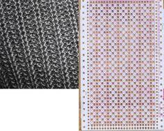 Knitting Paterns, Knitting Machine Patterns, Knitting Stitches, Knitting Designs, Knit Patterns, Stitch Patterns, Shibori, Card Patterns, Craft Items