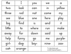 sight words, printable | Printable sight words flash cards. Dolch ...