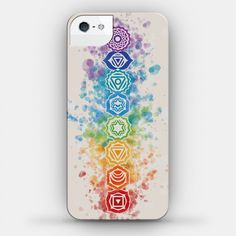 Watercolor Chakra Symbols | iPhone Cases, Samsung Galaxy Cases and Phone Skins | HUMAN