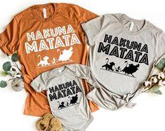 Hakuna Matata shirt Disney Family Shirt Animal Kingdom   Etsy Boy Disney Shirts, Matching Disney Shirts, Disneyland Shirts, Disney World Shirts, Matching Couple Shirts, Disney Shirts For Family, Disney Family, Family Shirts, Personalized T Shirts