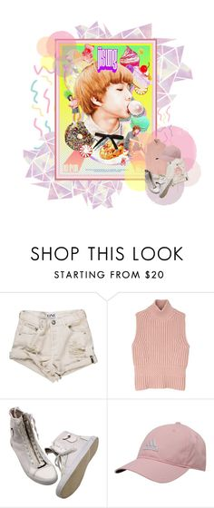 """""""NCT Dream~Jisung"""" by fantasy-lover-0719 ❤ liked on Polyvore featuring Ultimo, Diesel Black Gold and adidas"""