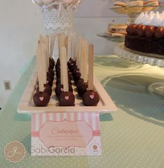 Cute cake pops at a Shabby Chic party!  See more party ideas at CatchMyParty.com!