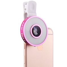 JDX 6 in 1 Camera Lens Kit Clip (LED Dimmable Selfie Light Fill-in light)( 185 Degree Fisheye Lens )( 0.65X Wide Angle Lens )( 10X Macro Lens ) for iPhone LG Samsung Galaxy Most Smartphones(Rose) >>> Click image for more details. (This is an affiliate link and I receive a commission for the sales)