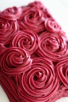 chocolate cake with blackberry buttercream frosting