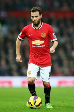 Juan Mata of Manchester United in action during the Barclays Premier League match between Manchester United and Hull City at Old Trafford on November 29, 2014 in Manchester, England.