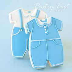 Boy Christening Cookie Favors // 12 // Baby by PastryTartBakery, $39.50