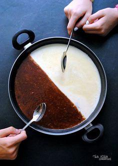 Paella dulce de dos chocolates. Receta - Tía Alia