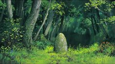 Totoro by oga kazuo art in 2019 anime art, anime scenery. Totoro, Studio Ghibli Background, Animation Background, Fantasy Landscape, Landscape Art, Hayao Miyazaki, Sword Art Online, Bakemono No Ko, Art Studio Ghibli