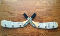 Hockey Stick Dual Blade Medal Rack on Etsy, $22.00