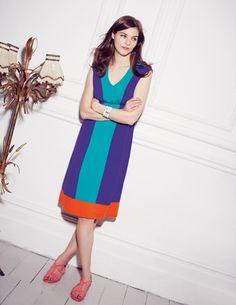 Drapey Colourblock Dress