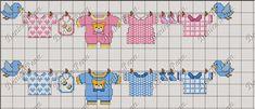 Plena Art's, Bordados em Ponto Cruz: Bebês