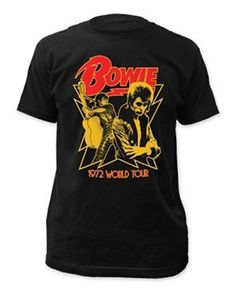 DAVID BOWIE / 1972 WORLD TOUR Tシャツ デビッド・ボウイ メンズMサイズ [並行輸入品]