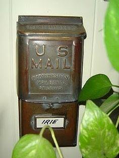 Vintage mailbox is where I stash my blank envelopes.