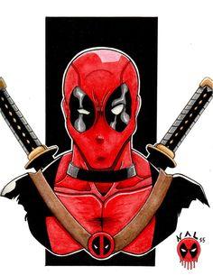 Deadpool watercolor by tenshiflyers on DeviantArt