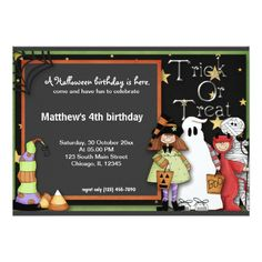 Trick or Treat Halloween Birthday Card