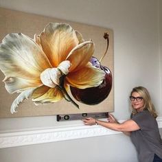 Likes, 127 Comments – Australian Contemporary Artist ( - Art Attack Artistic Installation, Magnolias, Artist Art, Flower Art, Watercolor Paintings, Art Drawings, Canvas Art, Artwork, International Market