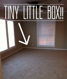 """Before & After: Decorating a """"Tiny Box"""" of a Living Room - great idea for the small space I'll have in our new Texas home!"""