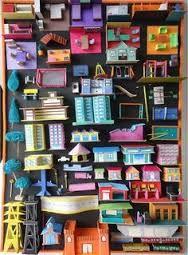 Resultado de imagen para maquetas de ciudades con material reciclable