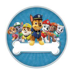 Personajes Paw Patrol, 3rd Birthday, Birthday Parties, Cumple Paw Patrol, Round Labels, Graphics Fairy, Smurfs, Decoration, Birthdays