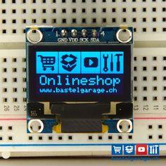 OLED Display Blau I2c 128x64 0.96'' Online Shop - bastelgarage.ch