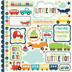 Echo Park: Little Boy Collection, cardstock stickers