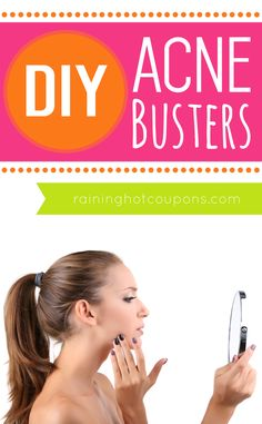 DIY Acne Busters: There is a natural, DIY option for combating those annoying acne spots and blemishes! It can be created with a few common essential oils and a little bit of elbow grease! Click through for the instructions on how to make your own DIY acne buster! Raining Hot Coupons