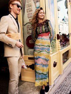 Gigi Hadid and Domhnall Gleeson Take the Perfect Winter Break in the Season's Most Romantic Looks   Vogue.com