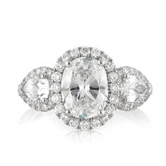 3.55ct Oval Cut Diamond Engagement Ring #3362-1