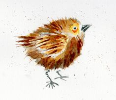 The Toymaker's Journal: Watercolor Birds and Fish - Cute
