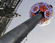 The NYC Times Square New Years ball that drops to kick off the New Year.  OIA.  (Only In America)