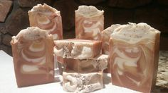 Cafe Caramello all veggie cp soap. Makes you want a cup of coffee and some caramel fudge!
