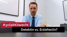 #30SekKitarecht Folge 34 - Detektiv gegen kranke Erzieher oder Erzieherin? Detektiv oder Freizeit-007 vs. Erzieher/in? I >> Mehr dazu bei kitarechtler.de ->