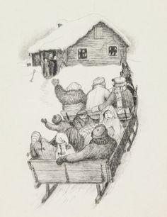 GARTH WILLIAMS~STUNNING FINAL PUBLISHED DRAWING~LITTLE SILVER HOUSE Children's Book Illustration, Book Illustrations, Colouring Pics, Coloring, Garth Williams, Laura Ingalls Wilder, American Children, Fall Pictures, Children's Literature