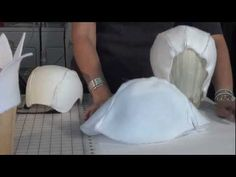 II- Using FOSSHAPE #millinery #judithm #hats Fosshape does not seem to breathe and I do not care for it. But it is getting lots of attention in millinery work. Personally, I think of it more for theatre.