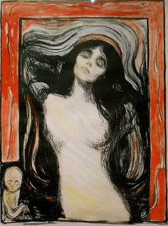 Edvard Munch/Expressionisim 19th Century Madonna
