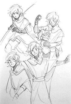 "typical-ingrid: ""Some doodles I did after watching season 4 "" Voltron Comics, Voltron Fanart, Form Voltron, Voltron Klance, Shiro, Character Inspiration, Character Design, Matt Holt, A Silent Voice"