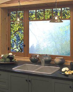 Amazon.com - Wisteria Window Film 24-by-36-Inch - Stained Glass Window Panels