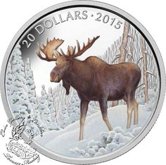 Coin Gallery London Store - Canada: 2015 $20 The Majestic Moose Silver Coin, $99.95