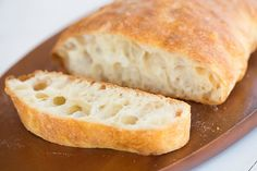 Ciabatta Bread Recipe. Make sponge a day ahead of baking.
