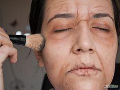3 Ways to Look Like An Elderly Person for Halloween - wikiHow Makeup To Look Older, Old Man Makeup, How To Use Makeup, Makeup Art, Makeup Ideas, Costume Makeup Tutorial, Smokey Eye Makeup Tutorial, Maquillage Halloween, Halloween Makeup