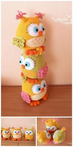 Crochet Lovey Free Pattern, Crochet Owls, Crochet Amigurumi Free Patterns, Crochet Animal Patterns, Stuffed Animal Patterns, Crochet Animals, Crochet Crafts, Crochet Projects, Owl Patterns