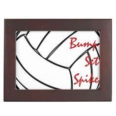 Bump Set Spike Volleyball Keepsake Box