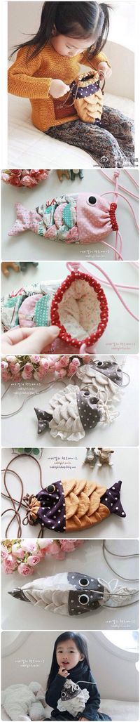 DIY Sewing Fabric Fishy Purse with Free Template