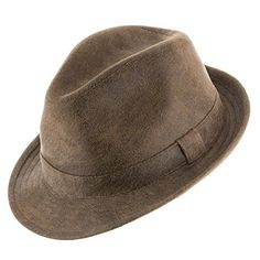 Napoli Soft Suede Faux Leather Stingy Snap Brim Trilby Fedora Panama Hat  RUST 7 14    Check out the image by visiting the link. Fashion for Men e541468c1004
