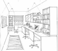 Are you looking to brighten up a dull room and searching for interior design tips? Perspective Room, Perspective Drawing Lessons, Perspective Sketch, Architecture Sketchbook, Architecture Old, Architecture Details, Rendering Interior, Interior Design Sketches, House Drawing