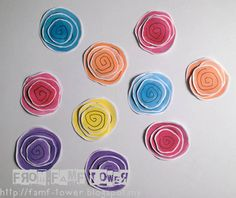 From FAMF Tower: Cute DIY Flower Embellishments, DIY Watercolour Flowers